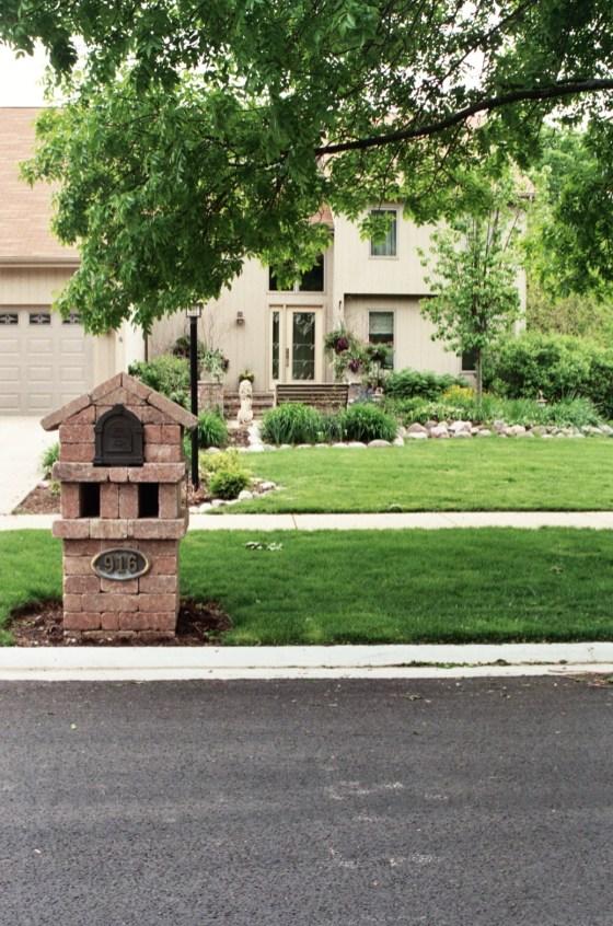 brick mailbox montano's landscaping