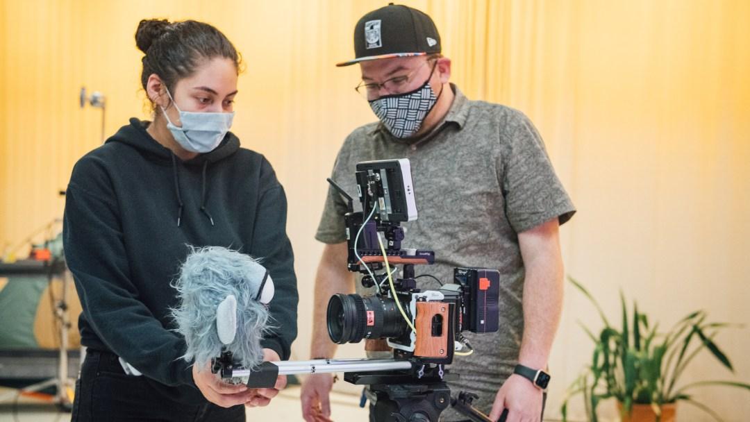 Angela Lares-Benitez and Aldolfo Cantu-Villarreal on set during filming of Jeff Oliver's Beast of Torpor
