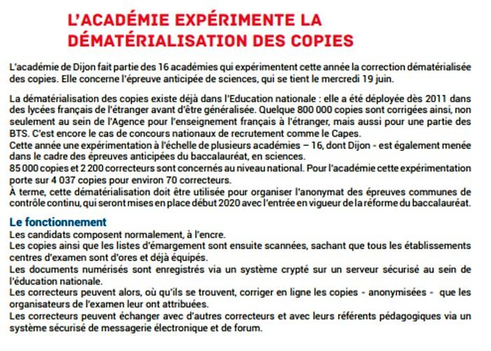 presentation Bac baccalaureat 2019 rectorat Dijon organisation concours examen lutte fraude triche Montceau-news.com 1306195