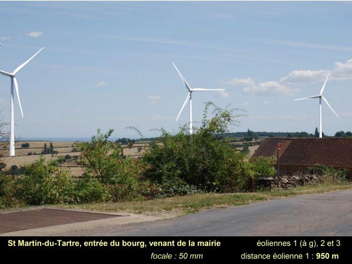 """""""Cas d'école"""" – Nouveau projet d'éoliennes, à St Martin du Tartre"""