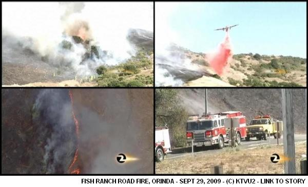 Fish Ranch Fire - Sept 2009