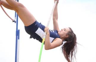 Christiansburg's Cassidy Cromer placed 9th in the pole vault with a clearance of 9-00 at the 3A West Region meet.