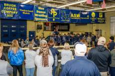 Photos courtesy of Blue Demon Wrestling Club Approximately 100 people gathered Sunday to welcome the champions home during a reception at the Hawkeye Wrestling Hall