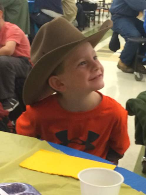 The future of the food system, this young farmer attends Auburn High School Future Farmers of American National Ag. Day Breakfast in Riner.