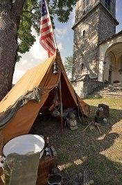 accampamento Americano in Piazza della Chiesa