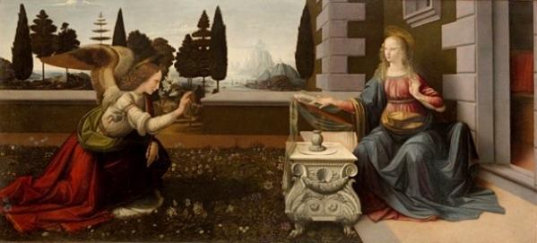 A-Annunciation_da_Vinci