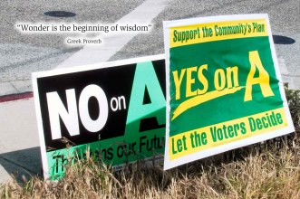 Yes on A, No on A