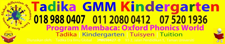 GMM Kindergarten-The Best English Medium Preschool in Taman U, Skudai, Johor