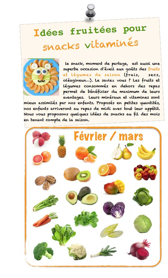 snack Montessori fruitée