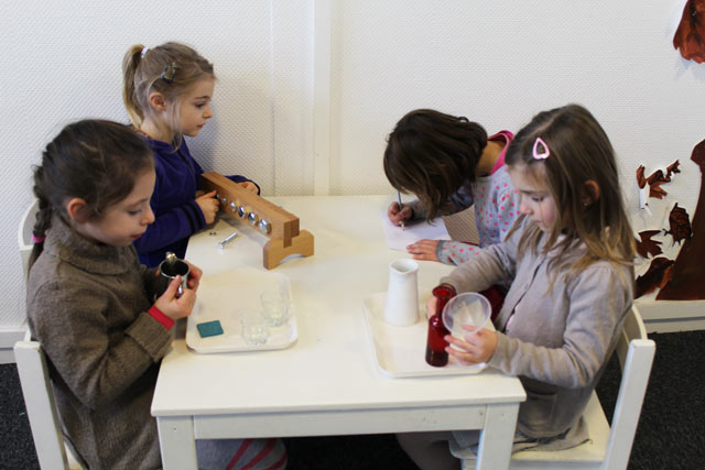 TTravail en commun, vie pratique montessori international Brodeaux