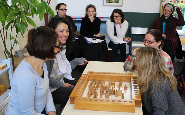 Ecole montessori International Bordeaux - formation sensorielle