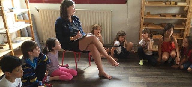 Cours de philosophie à l'école Montessori