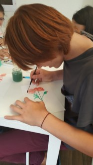 Montessori International de Bordeaux-Gradignan aquarelle fleur