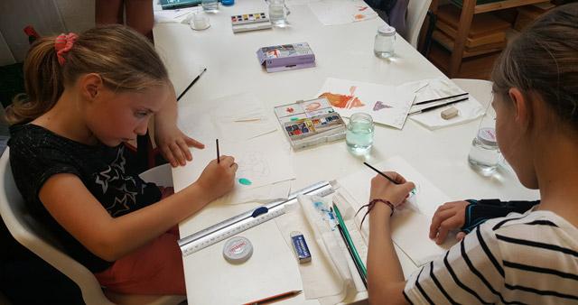 Montessori International de Bordeaux-Gradignan aquarelle peinture