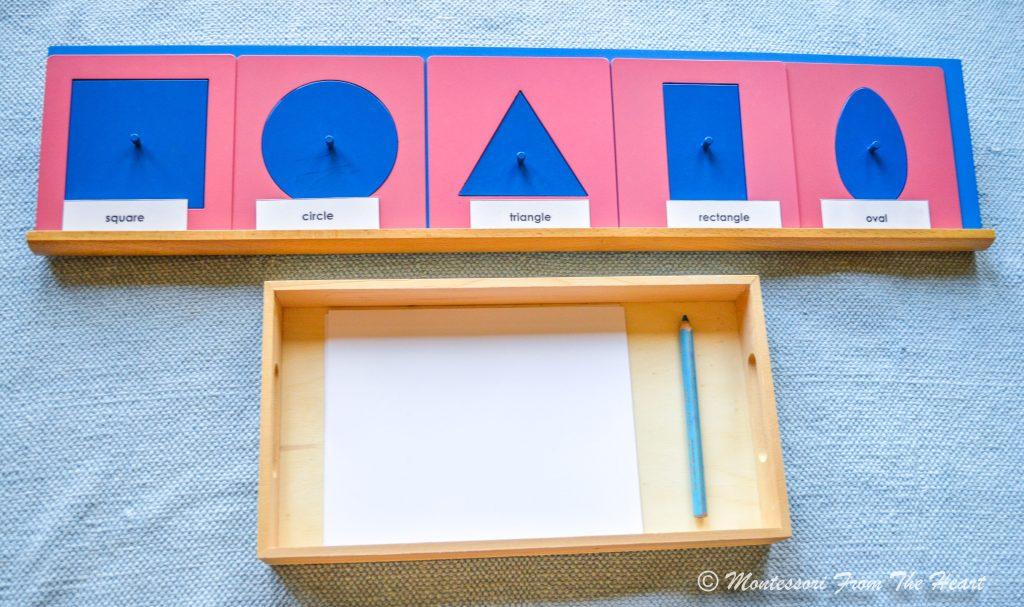 Montessori Metal Insets Language Work