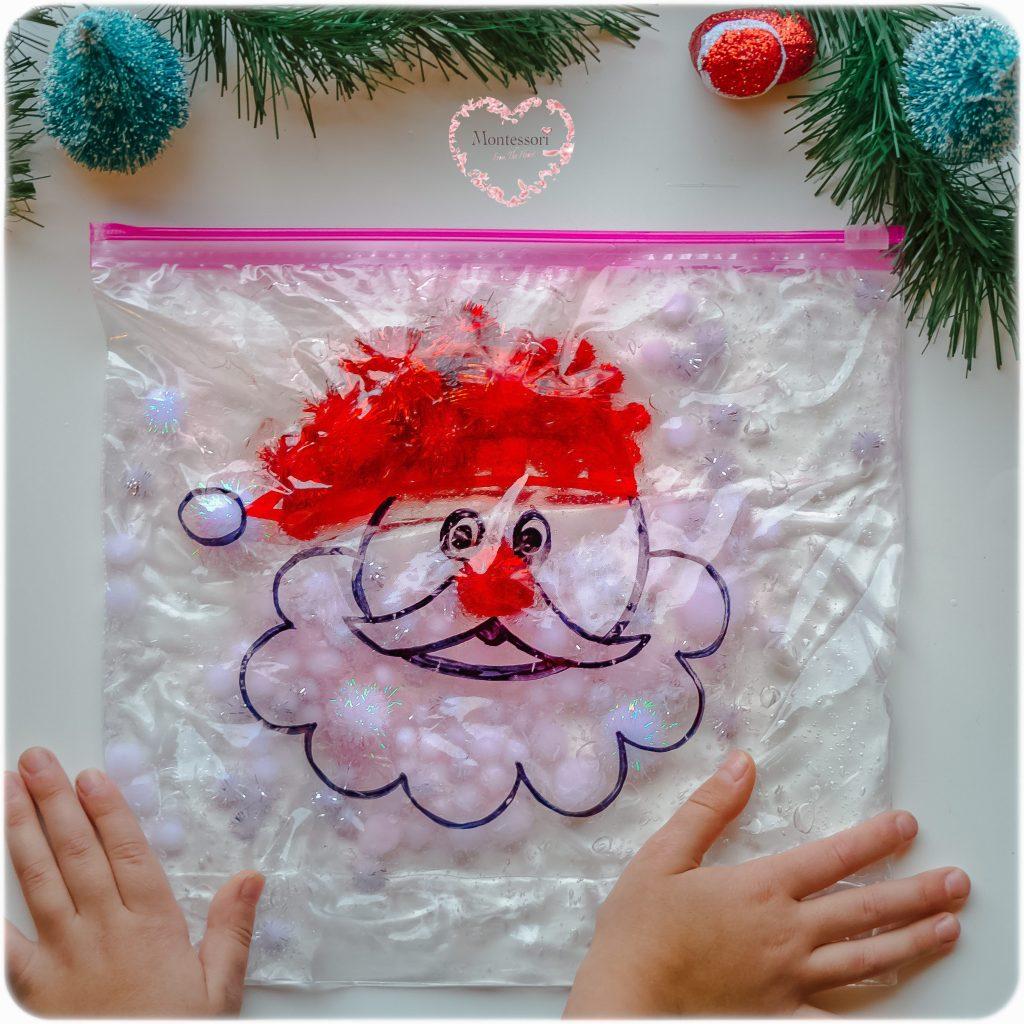 Santa-Pom-Pom-Color-Sort-Bag BABY SAFE
