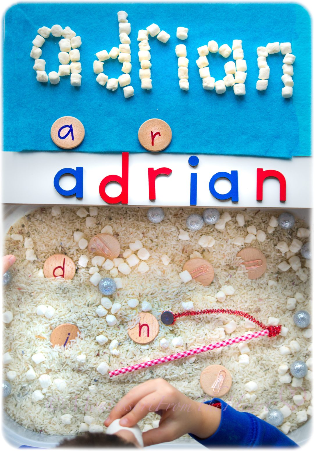 Marshmallow Name Recognition | Winter Kids Activities | Literacy