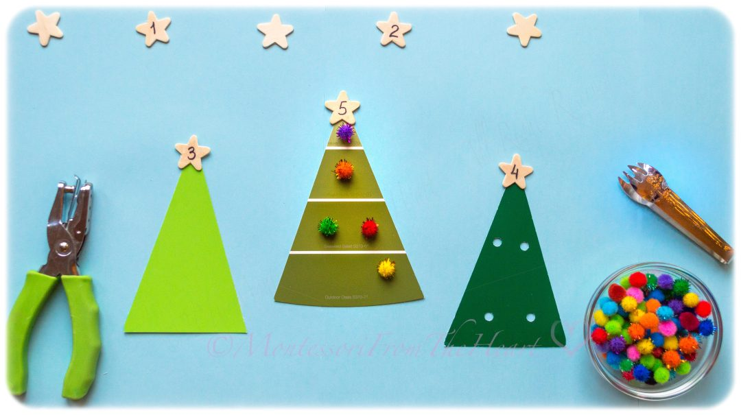 Ornaments Counting ADDITION Montessori Math Kids Winter Activity Christmas