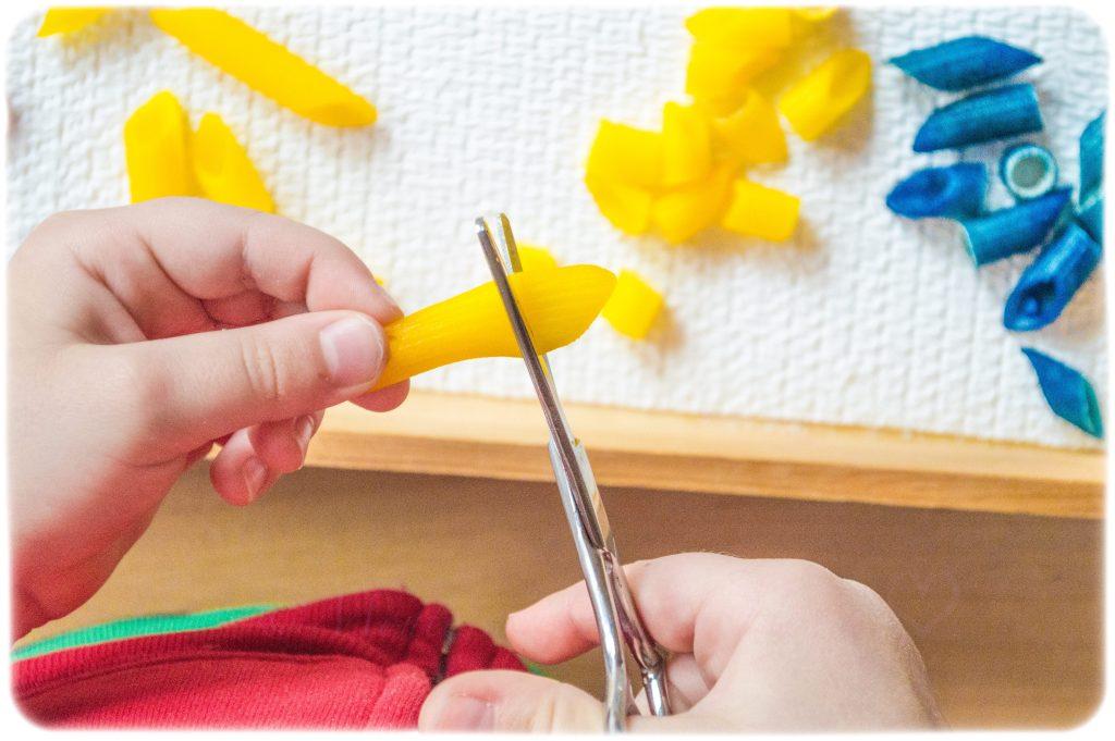 *Cooked-Pasta-Cutting-Scissor-Skills