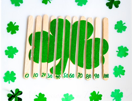 Shamrock-DIY-craft-stick-skip-count-10s