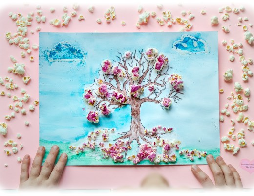 Cherry-Blossoms-Popcorn-3D-Spring-Kids-Craft