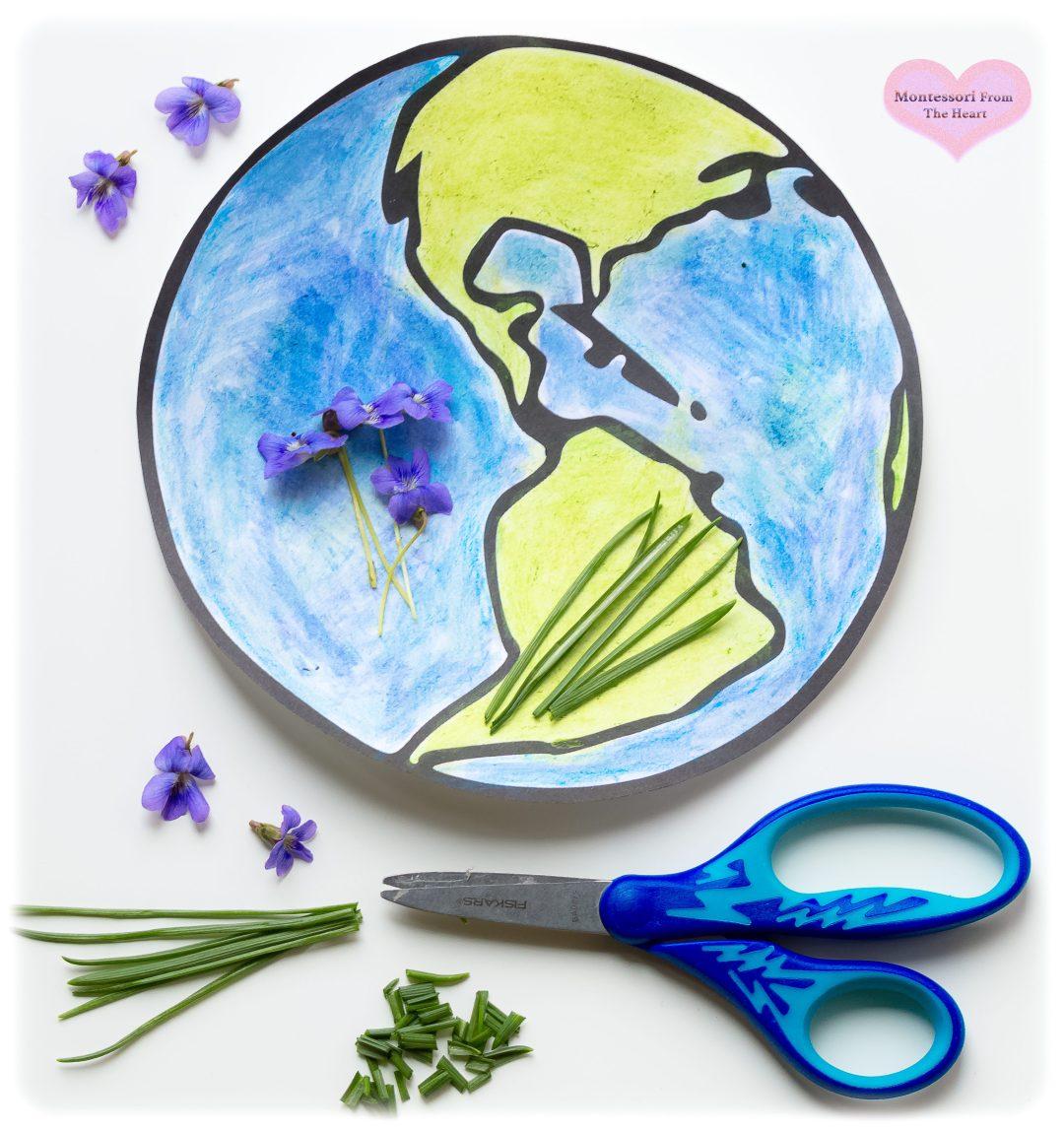 Earth-Day-Nature-Flower-Grass-Rub-Kids-Craft