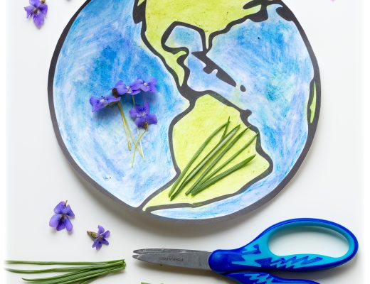 Earth-Day-Nature-Flower-Grass-Rub-Kids-Craft