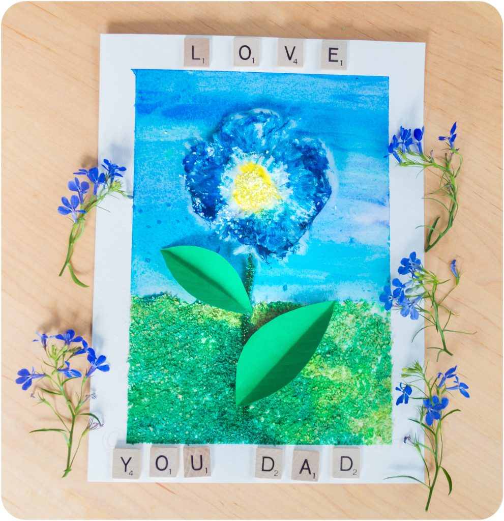 3D-Textured-Flower-Craft-Love-Dad