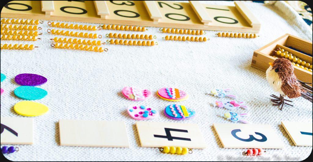 Spring-Inspired-Montessori Tens-Board