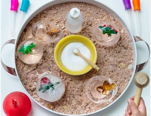 Frozen-SafariLtd-Dinosaur-Eggs-Sensory-Play