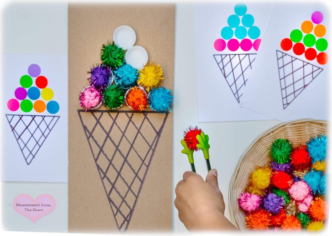Ice Cream Pom Pom Pattern DIY