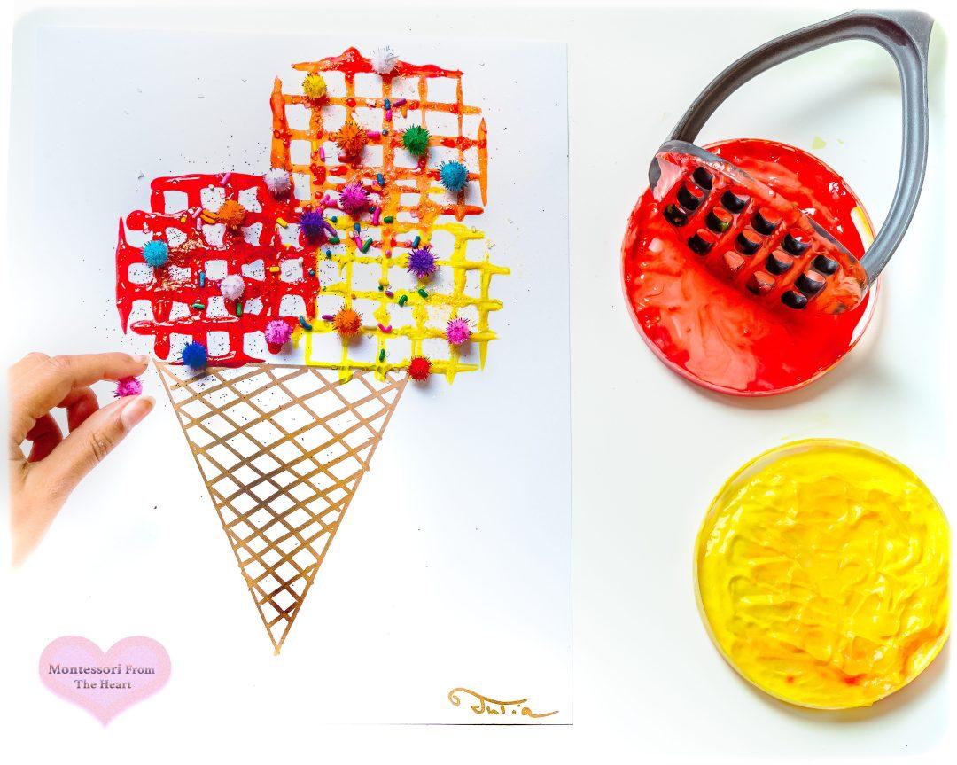 POTATO MASHER CRAFT Kids Ice Cream Craft