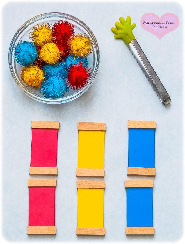 Montessori-Color-Tablets-Box-1-Matching-DIY-Pom-Pom