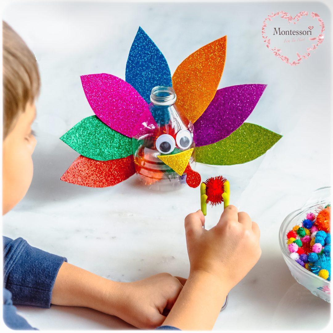 DIY-Turkey-Pom-Pom-Color-Sort