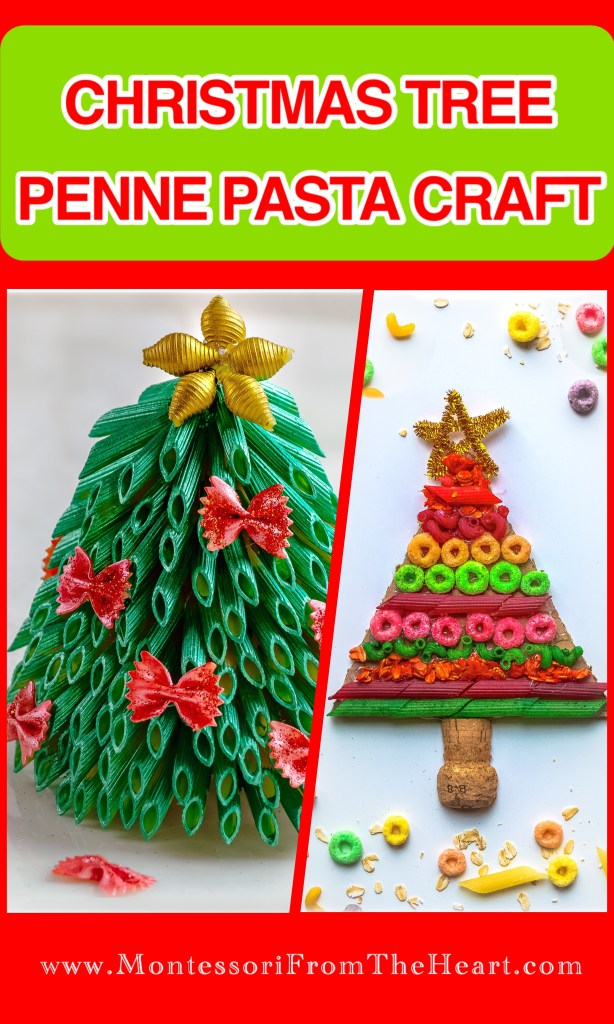 Christmas Tree Pasta Craft