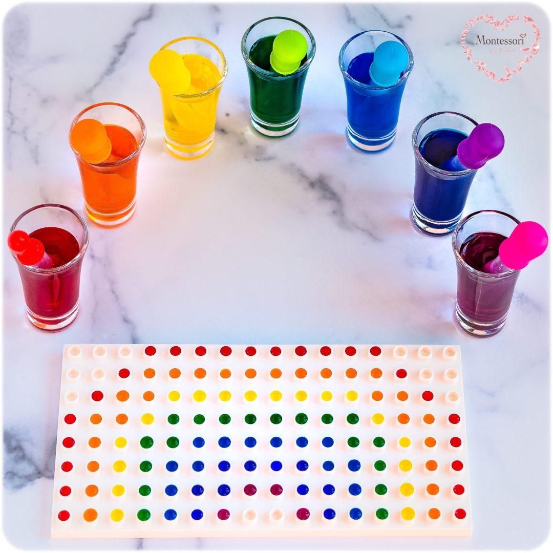 Eye-Dropper Kids Rainbow Craft