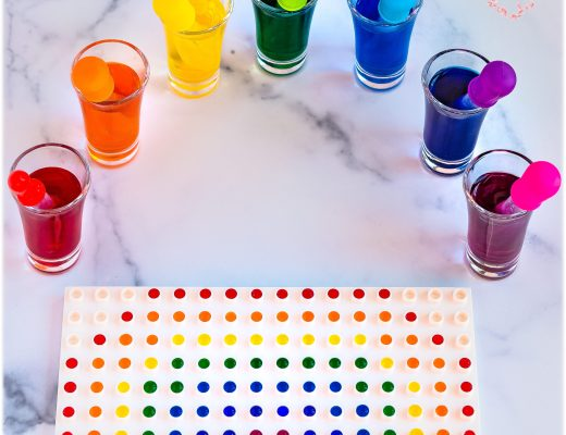 Eye-Dropper Kids Rainbow Craft