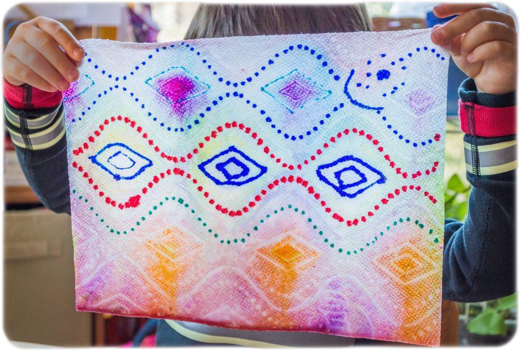 Paper-Towel-Markers-Kids-Process-Art-chromatography
