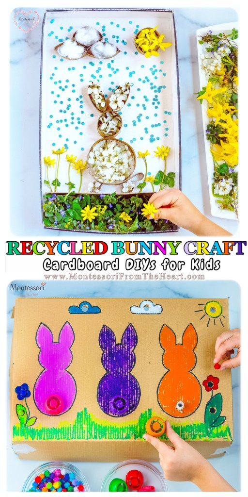 RECYCLED-BUNNY-CRAFT-CARD-BOARD-DIY for KIDS