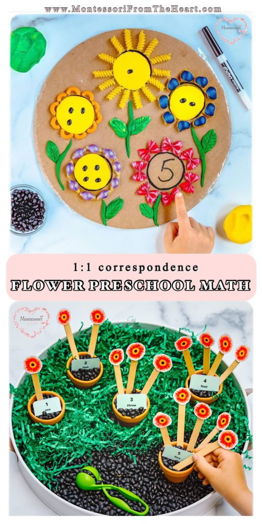 Prechool-Flower-Math-1:1-correspondence