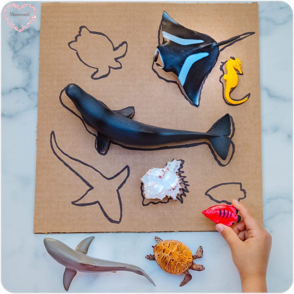 Silhouette Ocean Animals DIY-Puzzle WHALE Montessori KIDS ACTIVITIES