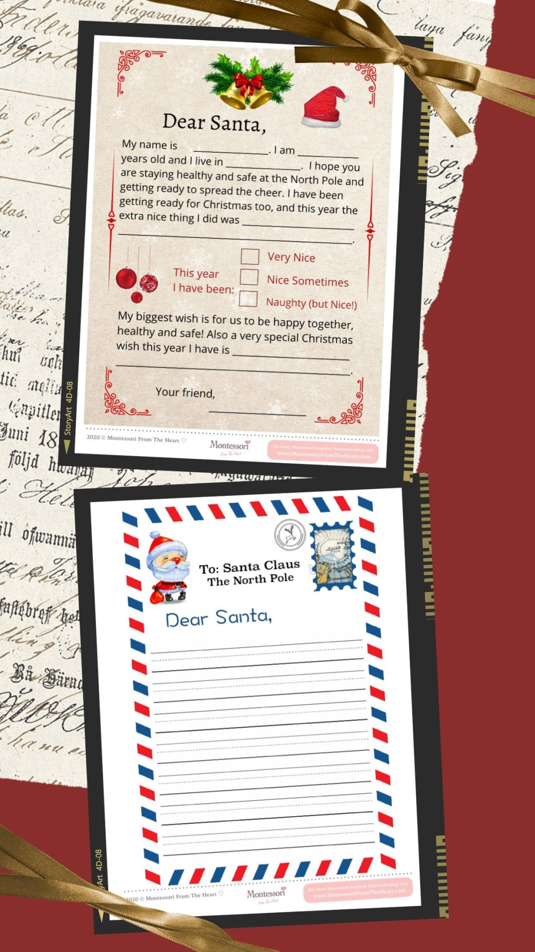 2 LETTERs to SANTA TEMPLATES