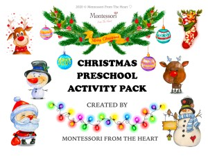 CHRISTMAS Montessori Kids Activity Pack