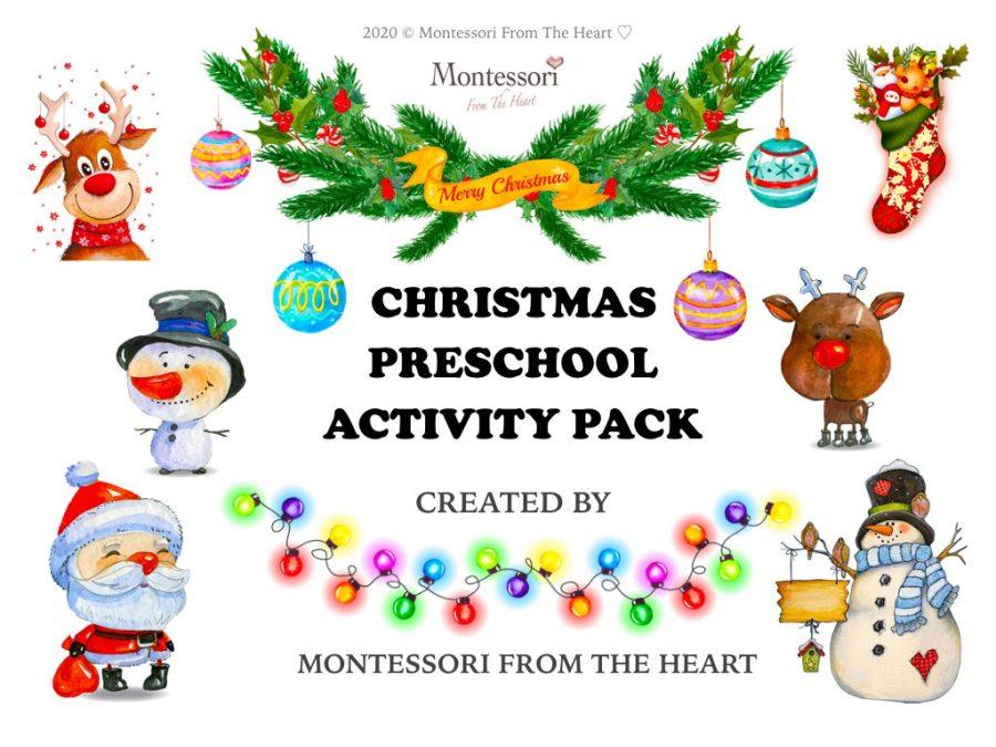 CHRISTMAS Montessori Kids Activity Pack