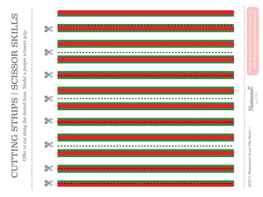 SCISSOR SKILLS | Montessori Christmas Pack