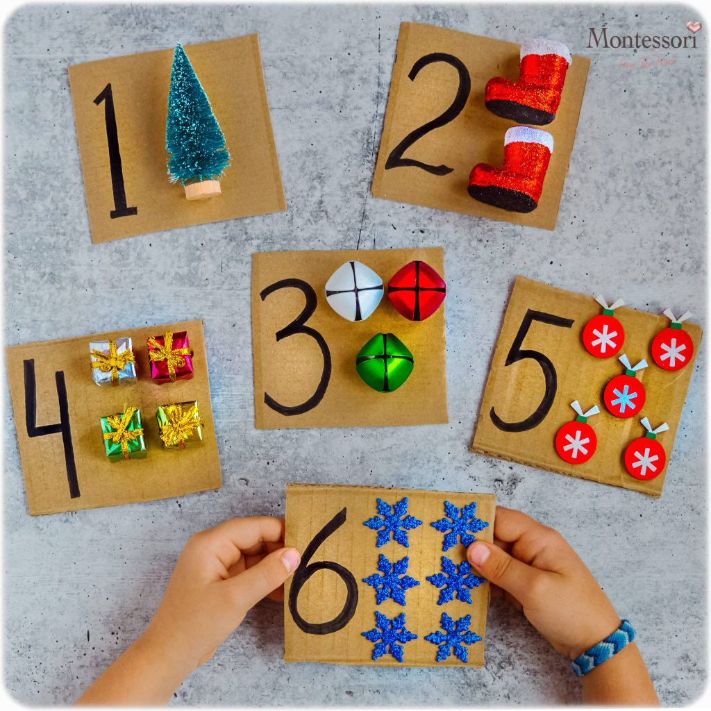 CHRISTMAS TACTILE COUNTING CARDS DIY PUZZLE