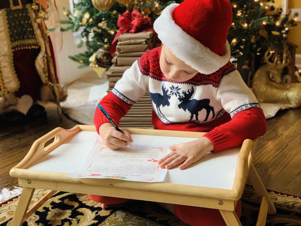 LETTER TO SANTA | WRITING TO SANTA | CHRISTMAS TREE |Kids Printable | Holiday Activity