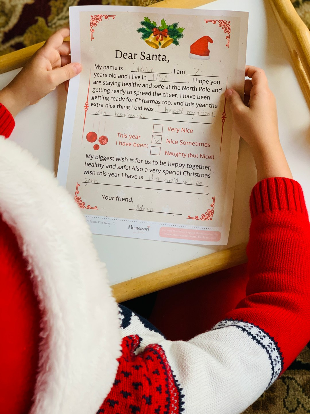 LETTER TO SANTA | END COVID KIDS WISH