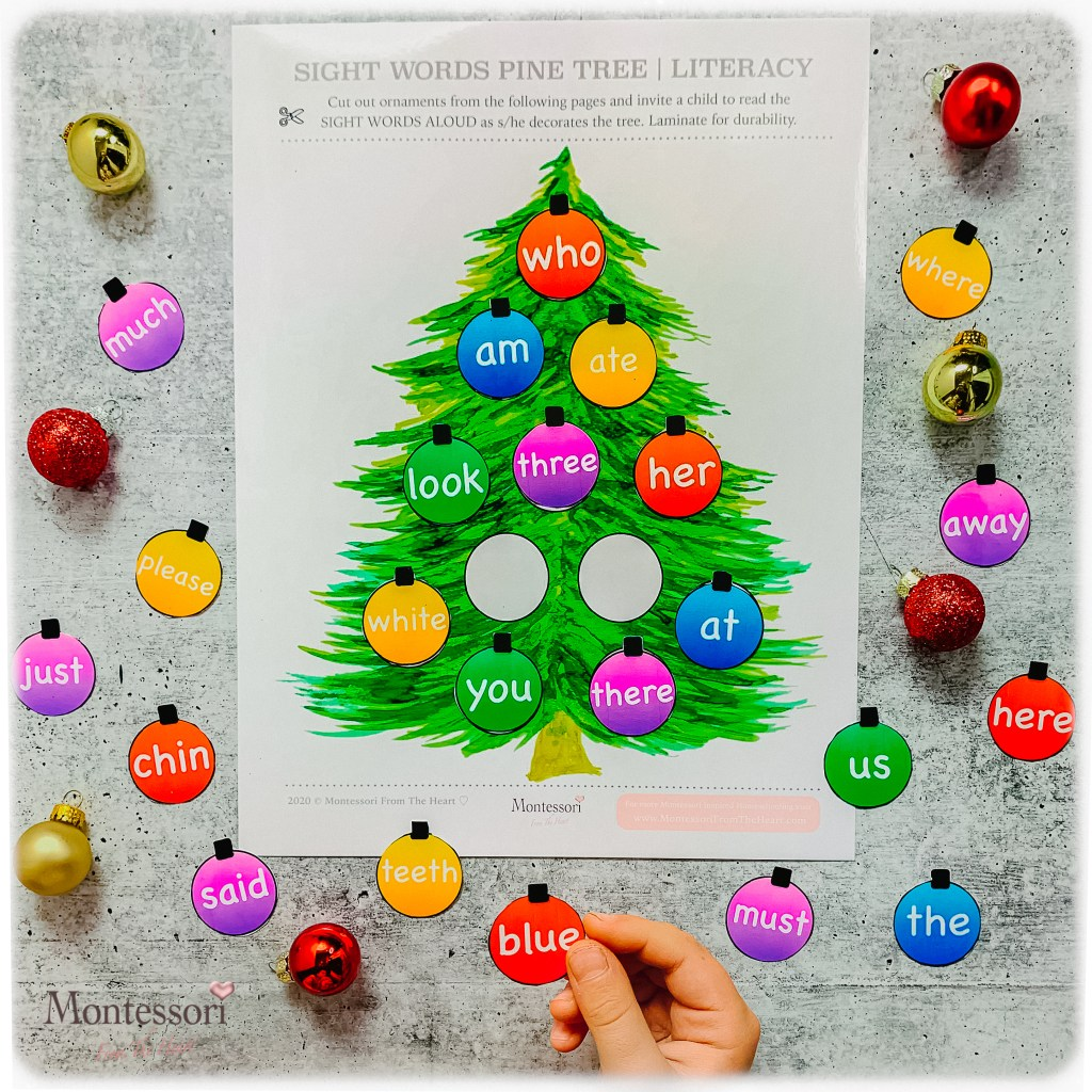 SIGHT WORDS DECORATING CHRISTMAS TREE ACTIVITY