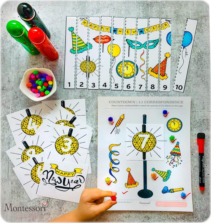 NYE COUNTDOWN Numeracy Kids Activity Pack